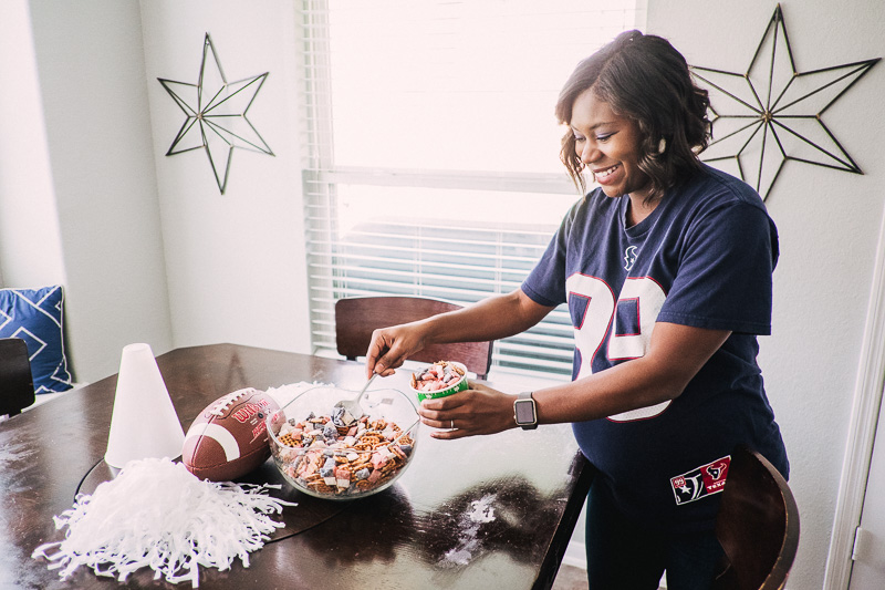 Game Day Recipe Puppy Chow Football Party Food, Super Bowl Recipe