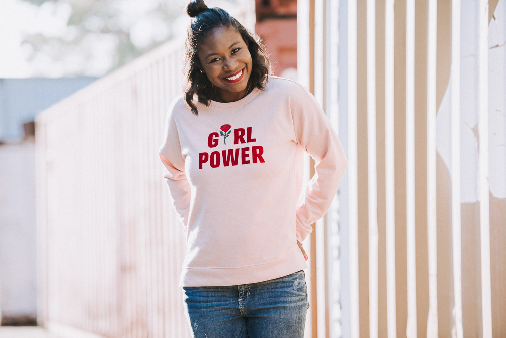 G is for Girl Power on Galentine's Day Valentine's Day with your girlfriends