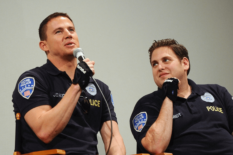 "AUSTIN, TX - MARCH 12: Actor Channing Tatum (L) and actor Jonah Hill attend the Q&A for the World Premiere of ""21 Jump Street"" during the 2012 SXSW Music, Film + Interactive Festival at Paramount Theatre on March 12, 2012 in Austin, Texas."