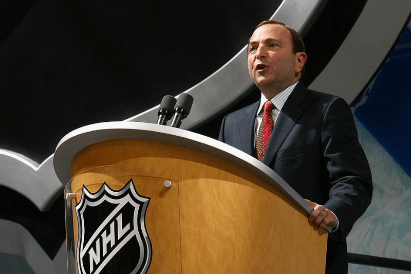 OTTAWA, ON - JUNE 20: NHL commissioner, Gary Bettman speaks onstage during the 2008 NHL Entry Draft at Scotiabank Place on June 20, 2008 in Ottawa, Ontario, Canada.