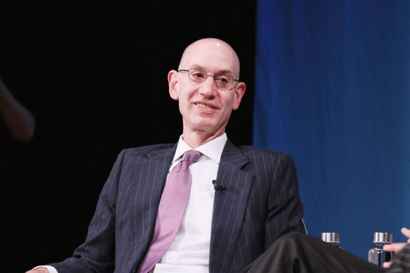 NEW YORK, NY - OCTOBER 25: Commissioner of the NBA Adam Silver speaks onstage for Building Brands and Delighting Fans: Nurturing Talent and Creating Compelling Content in the Digital Age during day 3 of Fast Company Innovation Festival at 92nd Street Y on October 25, 2018 in New York City.