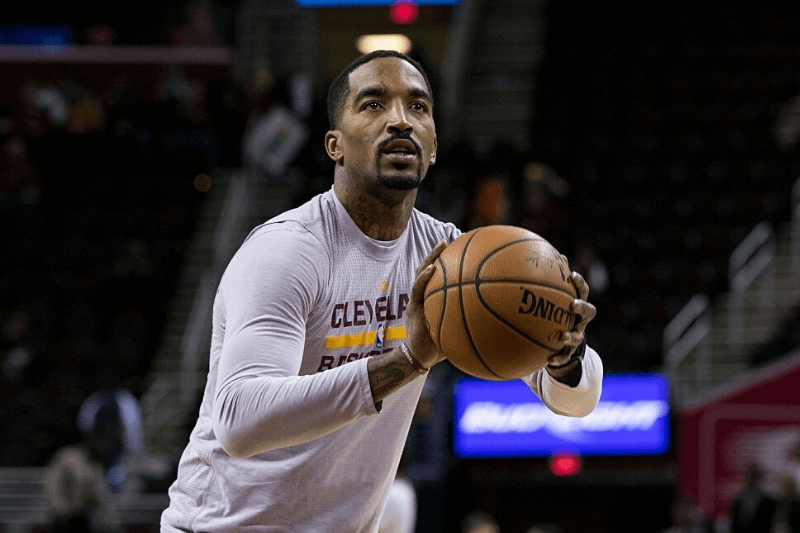 17 December 2015: Cleveland Cavaliers Guard J.R. Smith (5) during the game between the Oklahoma City Thunder and the Cleveland Cavaliers at Quicken Loans Arena in Cleveland, Oh.