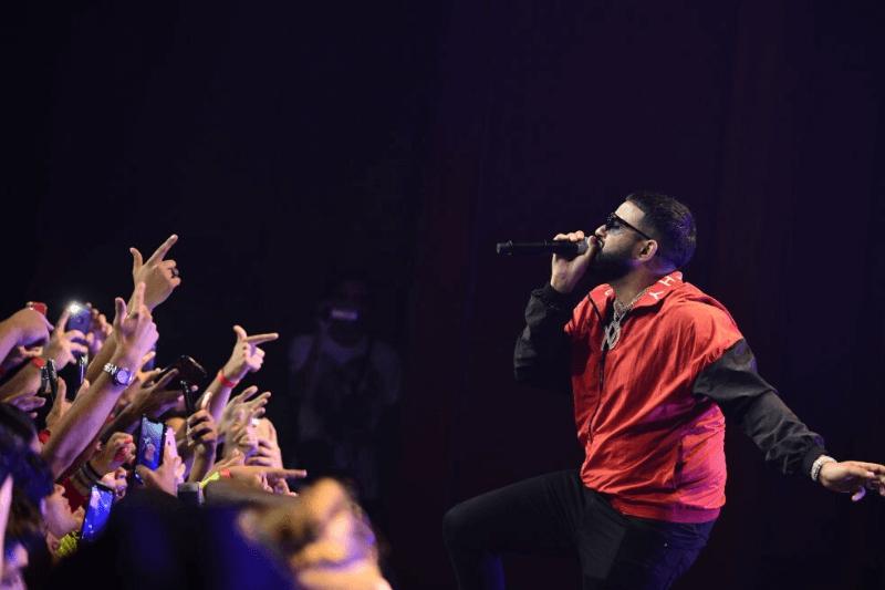 MIAMI BEACH, FL - JUNE 20: Rapper NAV aka Navraj Goraya performs during 'The Bad Habits Tour' at Fillmore Miami Beach on June 20, 2019 in Miami Beach, Florida.