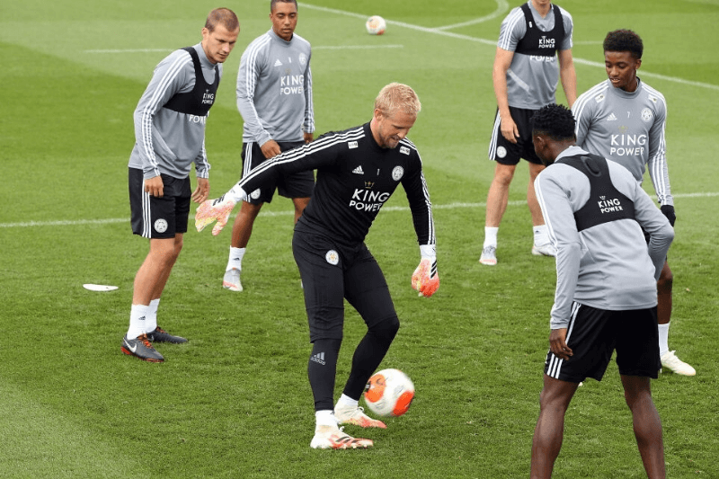 LEICESTER, ENGLAND - JULY 03: Kasper Schmeichel of Leicester City during the Leicester City training session at Belvoir Drive Training Complex on July 3, 2020 in Leicester, United Kingdom.
