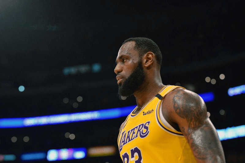 March 6, 2020; Los Angeles, California, USA; Los Angeles Lakers forward LeBron James (23) reacts against the Milwaukee Bucks during the second half at Staples Center.