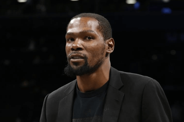 Jan 7, 2020; Brooklyn, New York, USA; Brooklyn Nets forward Kevin Durant (7) after the game against the Oklahoma City Thunder at Barclays Center. Mandatory Credit: Nicole Sweet-USA TODAY Sports