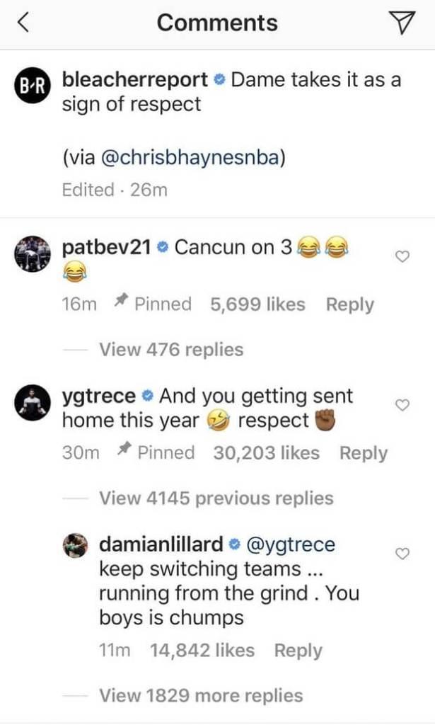Instagram comment screenshot