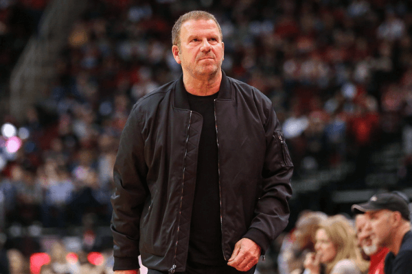Feb 2, 2020; Houston, Texas, USA; Houston Rockets owner Tilman Fertitta walks on the court during the game against the New Orleans Pelicans at Toyota Center.
