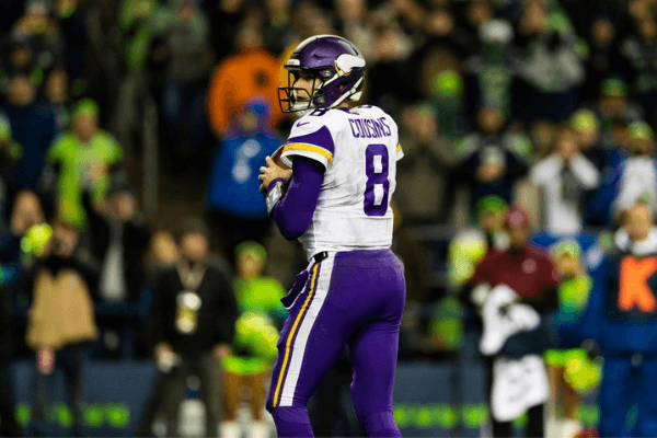 Minnesota Vikings quarterback Kirk Cousins (8) during the NFL regular season football game against the Seattle Seahawks on Monday, Dec, 10, 2019 at CenturyLink Field in Seattle, WA.