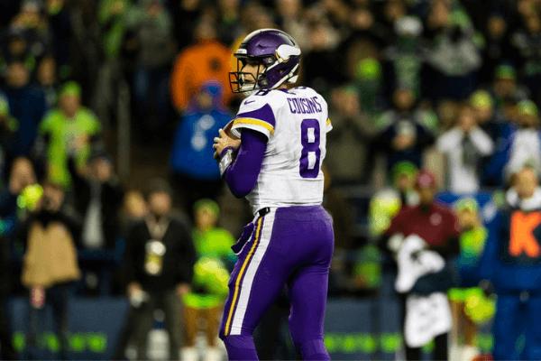 Minnesota Vikings quarterback Kirk Cousins (8) during the NFL regular season football game against the Seattle Seahawks on Monday, Dec, 10, 2019 at CenturyLink Field in Seattle, WA.