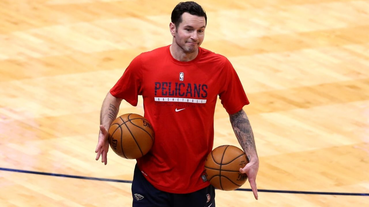 Jan 27, 2021; New Orleans, Louisiana, USA; New Orleans Pelicans guard JJ Redick before their game against the Washington Wizards at the Smoothie King Center. Mandatory