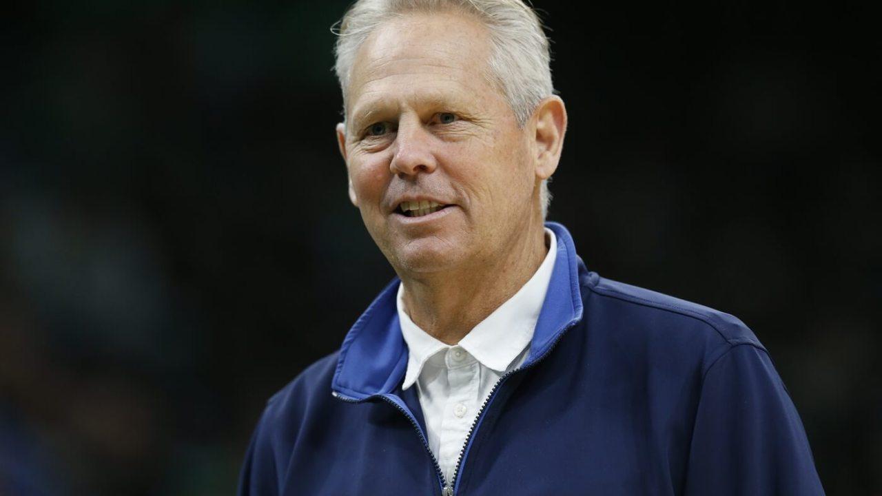 Jan 13, 2020; Boston, Massachusetts, USA; Boston Celtics general manager Danny Ainge during the first half against the Chicago Bulls at TD Garden. Mandatory Credit: Greg M. Cooper-USA TODAY Sports