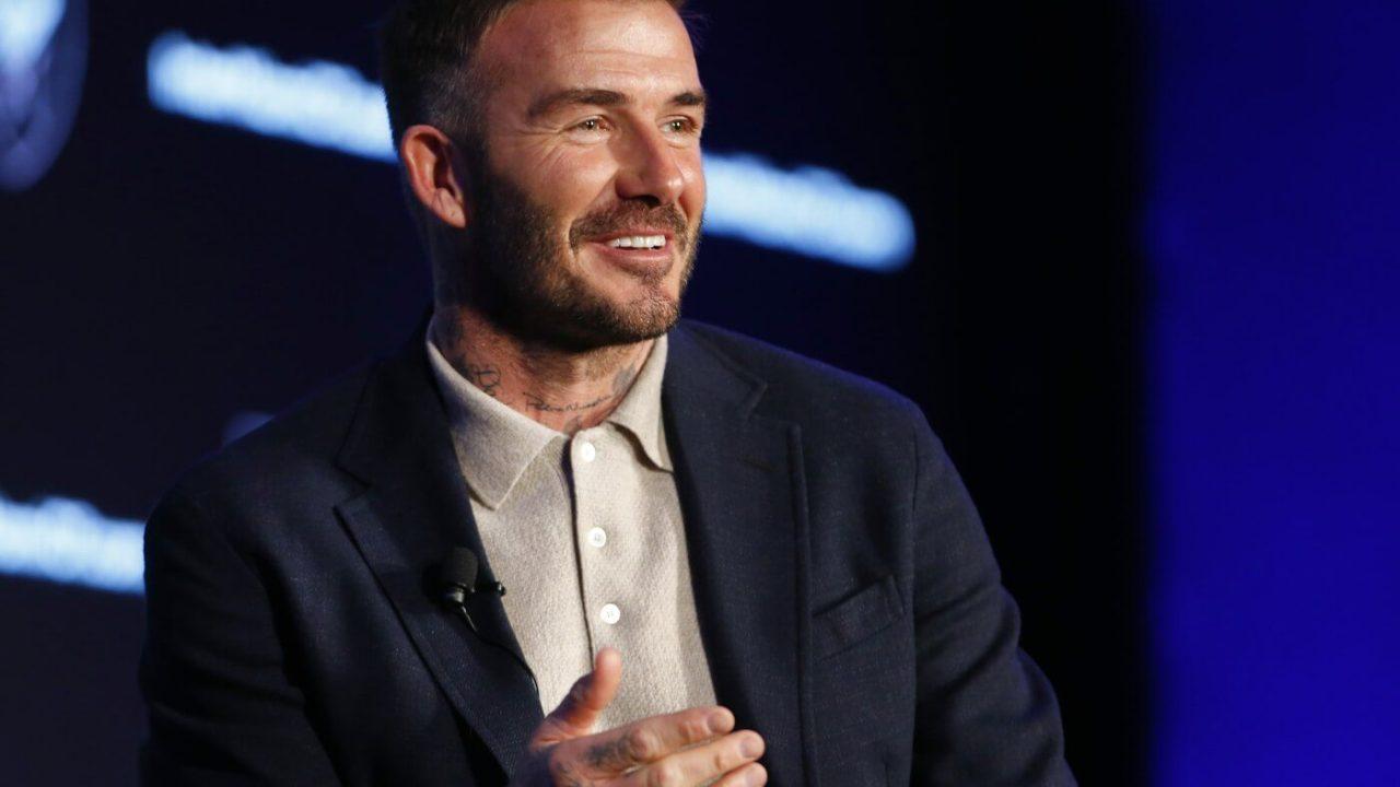 Feb 26, 2020; New York, New York, USA; David Beckham during the MLS 25th Season Kickoff at the Mandarin Oriental Hotel. Mandatory Credit: Noah K. Murray-USA TODAY Sports