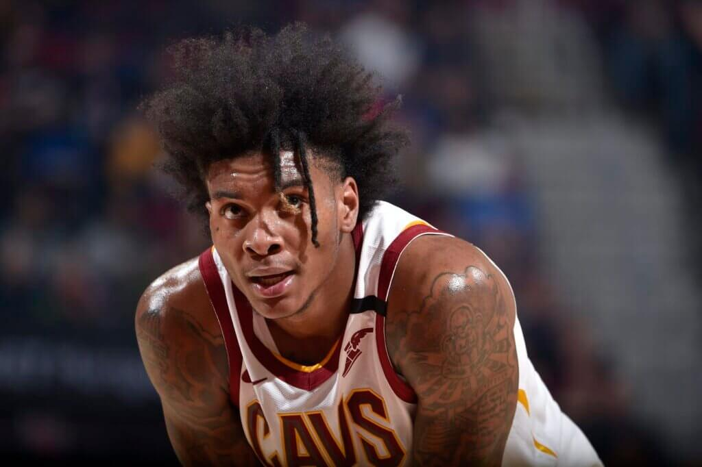 Miami Heat v Cleveland Cavaliers CLEVELAND, OH - FEBRUARY 24: Kevin Porter Jr. #4 of the Cleveland Cavaliers looks on during the game against the Miami Heat on February 24, 2020 at Rocket Mortgage FieldHouse in Cleveland, Ohio. NOTE TO USER: User expressly acknowledges and agrees that, by downloading and/or using this Photograph, user is consenting to the terms and conditions of the Getty Images License Agreement. Mandatory Copyright Notice: Copyright 2020 NBAE (Photo by David Liam Kyle/NBAE via Getty Images)