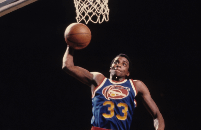 Unknown date and unknown location; USA; FILE PHOTO; Denver Nuggets guard David Thompson (33).