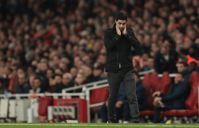 LONDON, ENGLAND - DECEMBER 29: A dejected Mikel Arteta the manager / head coach of Arsenal during the Premier League match between Arsenal FC and Chelsea FC at Emirates Stadium on December 29, 2019 in London, United Kingdom.