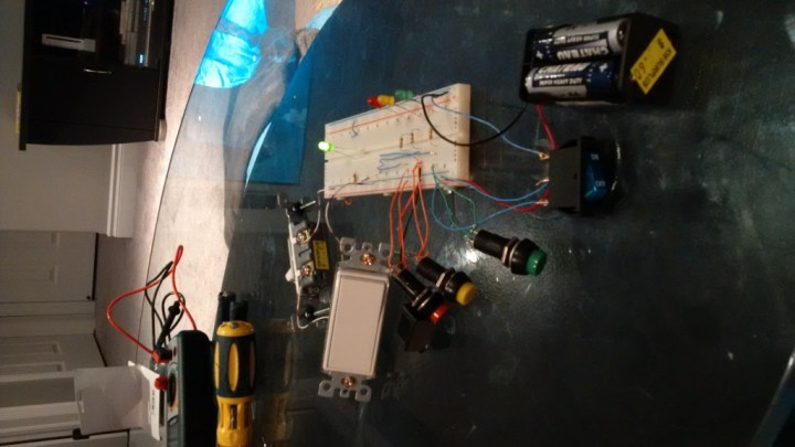 Toddler Activity Board - Test circuit on a breadboard