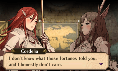From a hacked version of Fire Emblem: Awakening, Intelligent Systems, Nintendo, 2012. Hack and image source: UnassumingVenusaur on GBATemp: https://gbatemp.net/threads/fire-emblem-awakening-same-sex-marriage-more.404061/