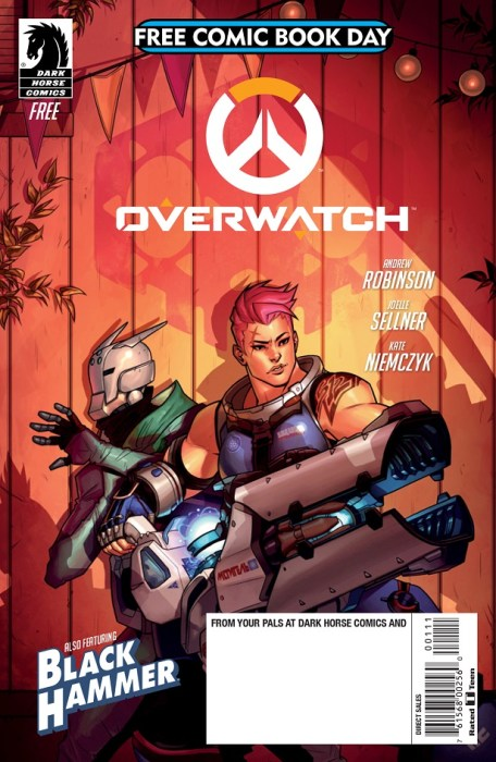FCBD Overwatch: Searching. Dark Horse Comics, May 2018; originally published by Blizzard Entertainment, September 28, 2017. Andrew Robinson and Joelle Sellner (writers), Kate Niemczyk (artist), Comicraft (letterer).