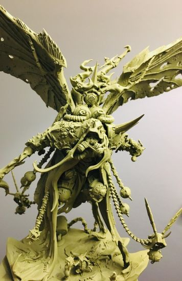 Mortarian, model by Games Workshop, painted with Death Guard Green basecoat.