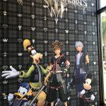 A mural depicting digital renderings of Riku, Sora, Goofy, Mickey, and Donald in Kingdom Hearts 3. Kingdom Hearts Pop-Up, Disney Springs, 2018