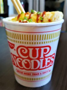 Cup Noodles With Egg as made by the author