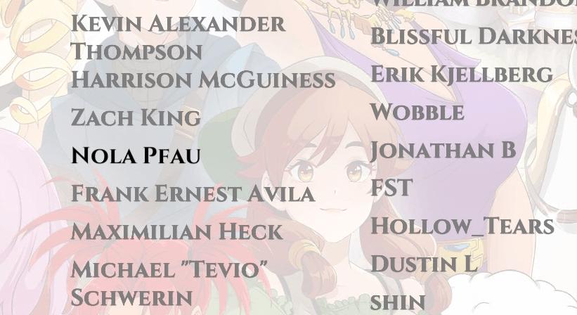 A screengrab of writer Nola Pfau's name in the Love Esquire credits.