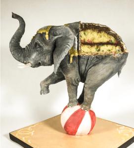 Balancing Elephant Cake