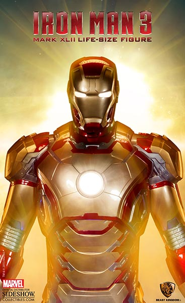 Batman Superman Iphone Wallpaper Marvel Iron Man Mark 42 Life Size Figure By Beast Kingdom