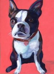 "Ellen Jo Roberts ""Dog is Love"" Acrylic on Canvas 12"" x 16"" $268"