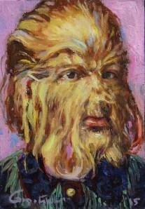 """Gail Potocki """"Jojo"""" Oil on Linen 5"""" x 7"""" $750 framed"""