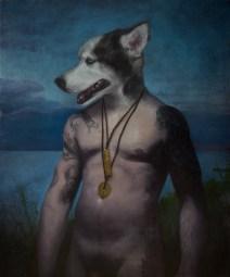 """Rory Coyne """"Beware"""" 30""""x24"""" Oil on Linen $3250 (framed)"""