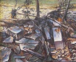 "William Scarlato, ""Flood Debris Downstream, near Loveland, Ohio"""