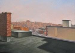 "William Scarlato, ""Ryk's Studio Rooftop, Muncie, Indiana"""