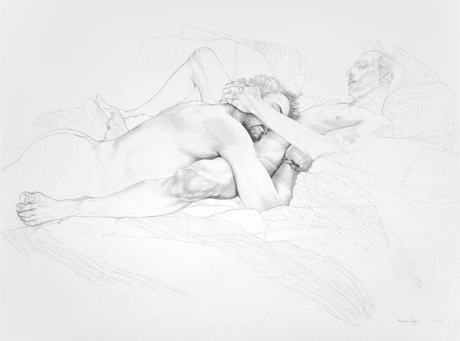"""Reuben Negron """"The Embrace Study"""" Graphite on paper 30""""x22"""" +tax and shipping"""
