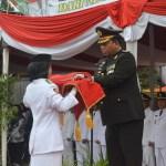 Kapolsek Neglasari Jadi Irup, Upacara Penurunan Bendera HUT RI Ke 74 Tingkat Kecamatan