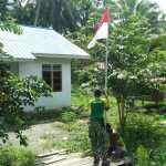 Satgas Yonif 413 Bremoro Gelorakan Pengibaran Bendera Merah Putih Serentak di Kampung Yetti