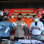 Polres Kukar Gelar Press Conference Pengungkapan Kasus Curas Mengaku Sebagai Polisi Narkoba, Curanmor Dan Curat