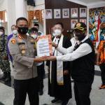 Jelang Pilkada 2020, Polres Kukar Gelar Deklarasi Damai Bersama Forkopimda, Para Tokoh Dan Ormas
