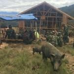 H+3 TMMD di Distrik Ibele, Masyarakat dan TNI Semakin Bersemangat Menyelesaikan Pembangunan