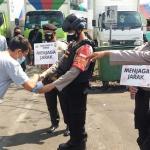 Patroli Sat Samapta Polresta Bandara Soekarno Hatta Gelar Penegakan Protokol Kesehatan PPKM Level 4