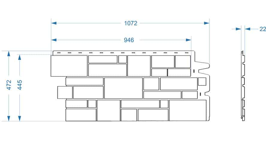 Панель Burg размеры чертеж