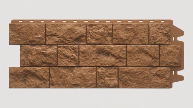 Фасадная панель Docke FELS Терракотовый 1052x425x30 mm