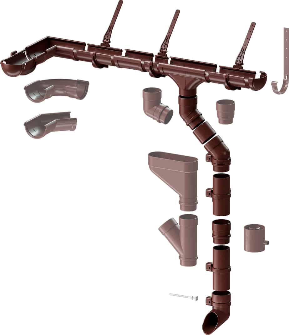 Водосточная система Docke Lux схема
