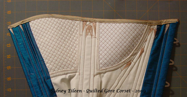 Construction Demo - Quilted Gore Victorian Corset - 35, by Sidney Eileen