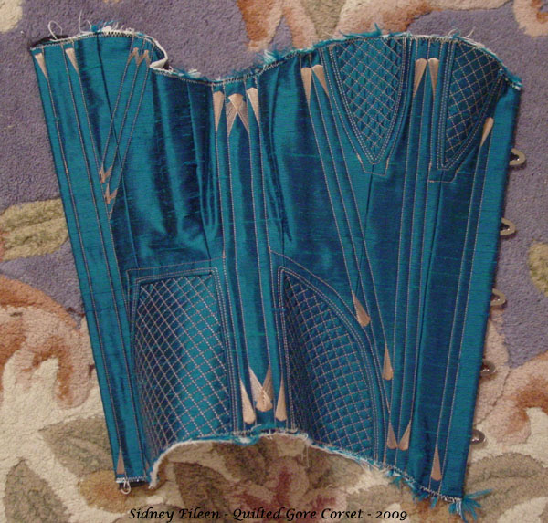 Construction Demo - Quilted Gore Victorian Corset - 30, by Sidney Eileen