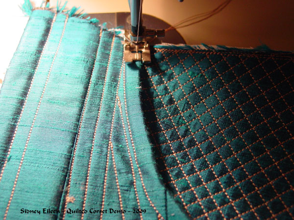 Construction Demo - Quilted Gore Victorian Corset - 26, by Sidney Eileen