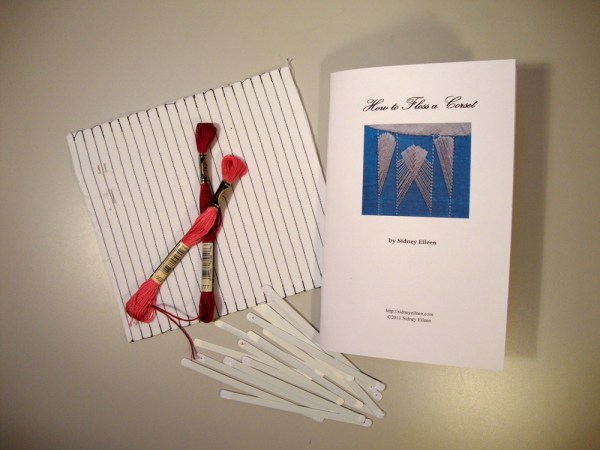 Contents of the Learn to Floss a Corset Kit, by Sidney Eileen