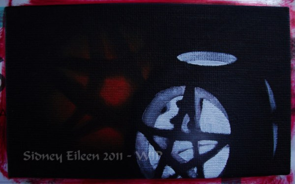 Title: Pentacle Candle and Apple - WIP 2, Artist: Sidney Eileen