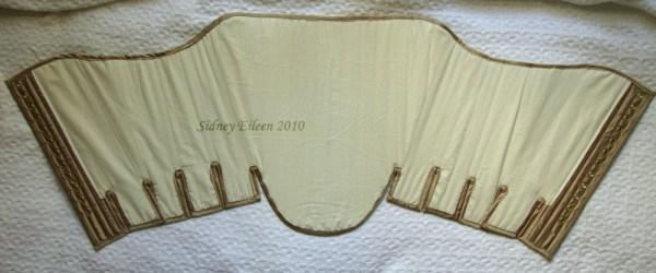 Fully Boned Silk Renaissance Stays - Lining, by Sidney Eileen